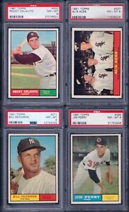 PSA 8 1961 Topps #337 Al's Aces Early Wynn Al Lopez Herb Score Chicago White Sox