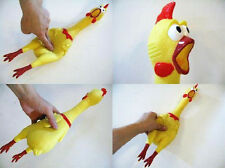 G Small Screaming Rubber Chicken Squeaky Pet Bulk Tough Dog Chew Treat Toy Gift