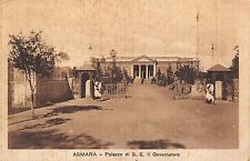 0313) ERITREA, PALAZZO DEL GOVERNATORE, ASCARI DI GUARDIA. VG 1934.