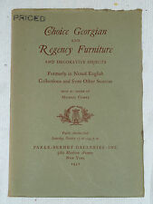 Choice Georgian & Regency Furniture, PARKE-BERNET GALLERIES, NY, 1951 Catalog