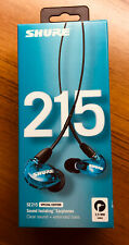 Shure SE215SPE Sound Isolating Earphones Special Edition in BLUE NIB !