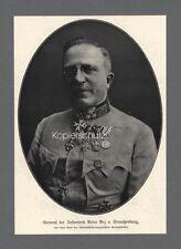 General der Infanterie Artur Arz v. Straußenburg  Österreich Uniform Orden 1917