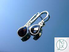 Black Onyx Natural Gemstone 925 Sterling Silver Earrings Quartz Healing Stone