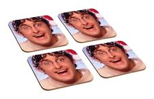 Louis Theroux Christmas 4 Piece Wooden Coaster Set