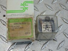 *LOT OF 2* NEW GE CR174JC01 RELAY 10 AMP 10A 115/230V