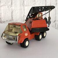 Vintage Tonka Truck Orange Swivel Crane Retro Toy Nostalgia 1970s Rare Gift