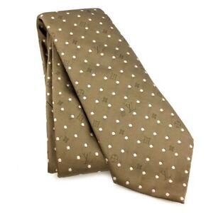 Louis Vuitton Dot Bronze Silk Tie /92078