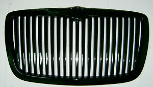 2005-2010 Chrysler 300 300C Front Grill Hood Grille Bright-Black Vertical Style