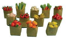 12 Sacchetti di frutta e ortaggi 12A scala Dolls House miniature e porte di fata