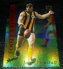 RARE 1995 SELECT AFL FOOTYS FINEST JASON DUNSTALL HAWTHORN HAWKS FF4 CARD