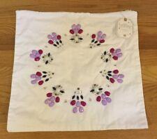 """NEW Pottery Barn Teen Jewel Frame Monogram 16"""" Pillow Cover WHITE"""