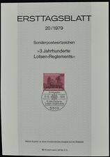 Alemania Occidental 20/1979, pilotaje regulaciones ersttagsblatt