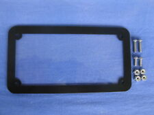 Motorcycle number plate frame / surround, satin black.