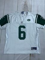 Reebok Womens On Field NFL Jets Sanchez White Green Football Jersey Size Large