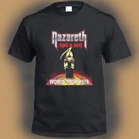 Nazareth Expect No Mercy Tour 1978 Logo Men's Black T-Shirt Size S-3XL