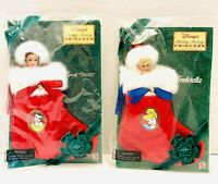 "Disney Princess Holiday Cinderella & Belle Avon Exclusive Mattel 7"" Stockings"