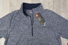 Under Armour Quarter Zip 1/4 Loose Heat Gear Long Sleeve Shirt Pullover Medium