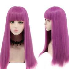 Descendants 2 Mal Cosplay Wig Long Purple Straight Famale Costume Party Wig