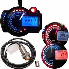 Digital LED Motorrad Tacho Kilometerzähler Tachometer Drehzahlmesser Ganganzeige