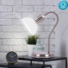 Attraktive Schreib Tisch Lampe Lese Leuchte Alabaster Glas Schalter Big Light