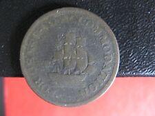 AM-1A4 Halfpenny token Pure Copper preferable to paper Canada Breton 966