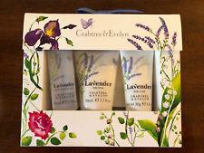 Crabtree & Evelyn Lavender gift set includes bath gel, body lotion, body cream