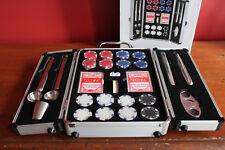 NIB BAR BUTLER The Rocks Barware Collection Poker Set Chips Cards Flasks $225