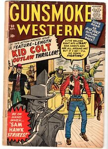 Gunsmoke Western  #60 Featuring Kid Colt & Two-Gun Kid, Very Good Condition