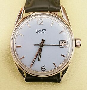 ROLEX SPECIAL antique light blue dial manual winding 1940s
