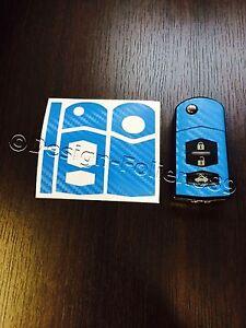 Carbon himmelblau Folie Schlüssel Mazda RX8 NC 2 3 5 6 MX5 SL CX 7 CX  9 uvm