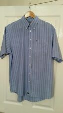 "MENS FARAH WEEKENDER STRIPED SHIRT,80'S CASUALS,MEDIUM,22""PTP,BLUE,STUNNER"