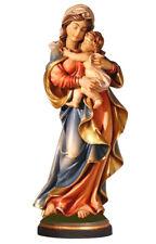 Maria mit Jesuskind 30 cm aus Holz farbig handgefasst Madonna