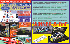 ANEXO DECAL 1/43 FORD FOCUS GRONHOLM & HIRVONEN WALLES GB R. 2006 1st & DnF (02)