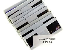 9 Stereo (Realist) Slides, A PLAY Germany - nice people 3d photography