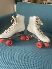 Vintage Roller Derby Brand Skates, Labeda Wheels, Taiwan Made Leather Boots Sz 7