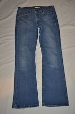 LEVIS 515 RELAXED  BOOT CUT WOMEN 8 M  RED TAG BLUE  DENIM JEANS  EUC