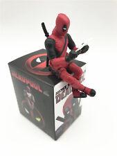 """Marvel X-Men Deadpool Cute Mini  Figure Sitting posture Statue New in box 2.75"""""""
