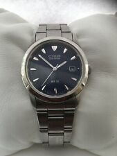 Citizen  Unisex  Eco Drive Analogue  Vintage  Date Steel Blue  Dial Slim  Watch