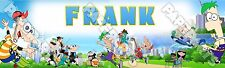 """Phineas And Ferb Poster 30"""" x 8.5"""" Personalized Custom Name Printing for Child"""