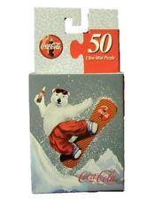 Coca Cola Coke Eisbär Puzzle USA 1990er - Jigsaw Snowboard Polar Bear
