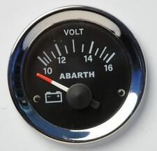 Manometro Strumento Road Italia Abarth Fiat 500 Voltmetro 10-16 Volt 52mm Nero