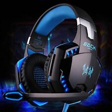 CASCOS AURICULARES PARA JUGAR PLAY STATION PC KOTION EACH G2000 CASCOS LED MICRO