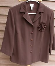 Women's Dark Brown Blouse by Mayerline; Size: 10