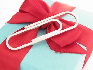 "Tiffany & Co Silver Paperclip Money Clip Holder 2.5"""