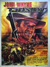 CHISUM (Affiche cinéma EO 1970) John Wayne ORIGINAL FRENCH VINTAGE MOVIE POSTER