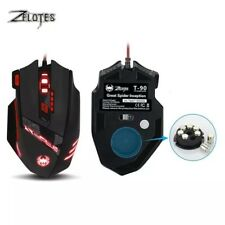 Zelotes T90 Mouse Souris Filaire Gamer LED Optique 9200 DPI Gaming 8 Boutons