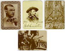 Lot of 4 KUSTOM QUALITY Postcards Custer Jesse James Soldiers Banjo Loggers