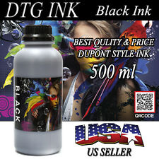500ml BLACK INK DTG VIPER DuPont Style Textile Ink Direct To Garment Printers