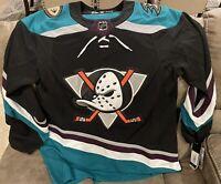 BRAND NEW Adidas NHL Jersey Anaheim Ducks Silver Season 25th Anniversary Size 46