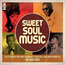 50 SWEET SOUL MUSIC SOUNDS NEW 2 CD 50's + 60's VINTAGE SOUL HITS Originals